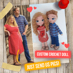 Custom Couple Gift - Personalized Crochet Gift - 15''