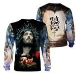 3D All-over Printed - Fall For Jesus He Never Leaves