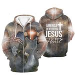 3D All-over Printed - American in my veins Jesus in my heart