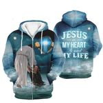 3D All-over Printed - Jesus in my heart he saved my life