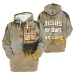 3D All-over Printed - Jesus in my heart he saved my life Ver02
