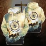 3D All-over Printed Shirt - God Is My Guide Compass