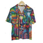 3D Hawaiian Shirt Colorful Animals - Cat