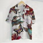 3D Hawaiian Shirt Colorful Animals - Humming Bird