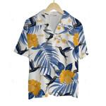 3D Hawaiian Shirt Colorful Animals - Humming Bird (Blue)
