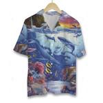 3D Hawaiian Shirt Colorful Animals - Blue Ocean