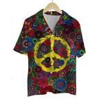 3D Hawaiian Shirt Colorful Hippies - Peace Symbols (ver 3)