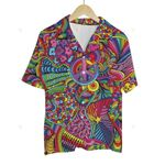 3D Hawaiian Shirt Colorful Hippies - Peace Symbols (ver 4)