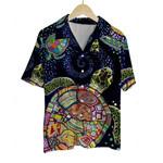 3D Hawaiian Shirt Colorful Animals - Turtle (Tie Dye)