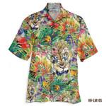 3D Hawaiian Shirt Colorful Tropical - Lion ver 3
