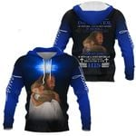 3D All-over Printed Jesus Christ - I am The Daughter Of The King (Blue)
