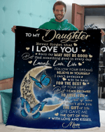 To my daughter I love you to the moon and back Blanket