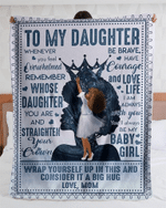 To my daughter, you'll always be my baby girl Blanket