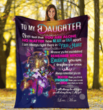 To my daughter I will always be with you and you always be my baby girl – dream catcher Blanket