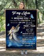 To My Mom From Daughter – Angel Blanket