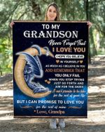 To My GrandSon From Grandpa – Dragon Blanket