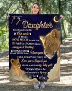 To My Daughter From Mom – Lion Blanket