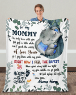 First Mothers Day Gift First Time Mom Gift Custom Blanket