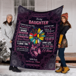 To my daughter from mom with love and kisses Blanket