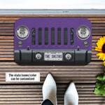 Jeep Wrangler Violet Doormat