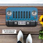 Jeep Wrangler Blue Doormat