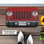 Jeep Wrangler Maroon Doormat