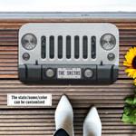 Jeep Wrangler White Doormat