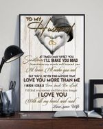 Birthday Gift for Husband, Anniversary present for husband, Most meaningful Wall Decor Poster Printed in The USA