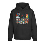 Rick and Morty Pixel Choose Your Fighter 2D Hoodie
