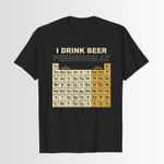 I drink beer/wine periodically 2D T-Shirt