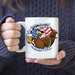 Proud member of American drinkin team – 4th of july Ceramic Mug