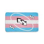 Lesbian/LGBT/Trans Flag Reverse Uno Card Doormat   Personalized Welcome Coir Door Mats