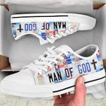Man of god – Jesus Christ  Low Top Canvas Shoes