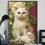 Cat and garden Poster