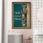 Hello Sweet Cheeks, Bathroom Poster Poster