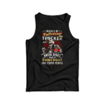 Buckle up buttercup this trucker has anger issues and a serius dislike for stupid people 2D Unisex Tank Top