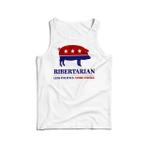 Ribertarian – less politics more smoke 2D Unisex Tank Top