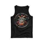 Satan Goat Wouldst thou like to live deliciously 2D Unisex Tank Top