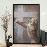 Golden retriever in god's loving hand Poster