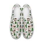 Cactus Pattern Slip on Shoes, Cactus Lover, Succulent Slip-on Shoes