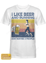 Beer Running And Maybe 3 People For Runners Shirts/ Mugs/ Totes/ Hand Bags