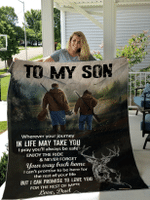 To My Son Blanket For Son Hunting