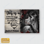 Personalized Poster Skull couple