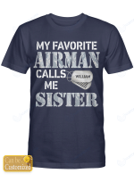 Personalized Airman Sister Shirts Hoodies Cups Mugs Hand Bags Totes