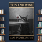 Cats And W Make Everything Fine Canvas Posters Puzzles Shower Curtains