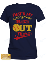 Personalized That's My Awesome Grandson Softball Sport Shirts/ Mugs / Totes