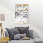 To My Fiancee/Fiancee Personalized Canvas Posters Puzzles Gifts Couples