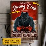 Personalized Boxing Club Canvases Pictures Puzzles Posters Quilts Blankets