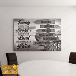 Personalized 7 Names Family A Little Bit Of Crazy Canvases Pictures Puzzles Posters Quilts Blankets