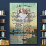 Personalized Image And Name As I Sit In Heaven Canvases Posters Pictures Puzzles Quilts Blankets Shower Curtains Memory Memorial Loss Of Family Members For Ones In Heaven
